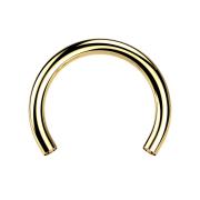 Micro Circular-Stab vergoldet mit 0.8 mm Innengewinde