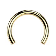 Circular-Stab vergoldet mit 1.2 mm Innengewinde