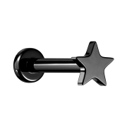 Micro Labret Innengewinde schwarz Stern