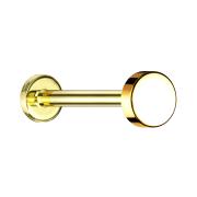 Micro Labret Innengewinde vergoldet Scheibe