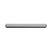 Threadless Micro Barbell-Stab silber