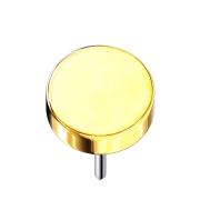 Threadless Scheibe vergoldet