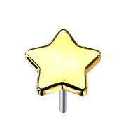 Threadless Stern vergoldet