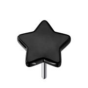 Threadless Stern schwarz