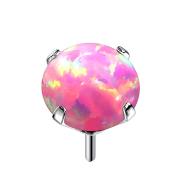 Threadless silber mit Opal pink gefasst
