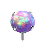 Threadless silber mit Opal violett gefasst
