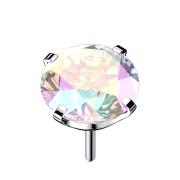 Threadless silber mit Kristall multicolor gefasst