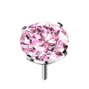 Threadless silber mit Kristall pink gefasst