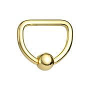 Micro Ball Closure Ring vergoldet D