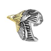 Ring silber Adler mit Goldkopf