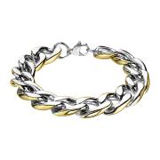 Armband silber mit Goldrand
