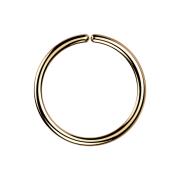 Micro Piercing Ring rosegold mit Titanium Beschichtung