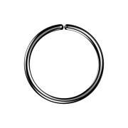 Micro Piercing Ring schwarz mit Titanium Beschichtung