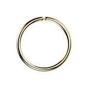 Micro Piercing Ring vergoldet mit Titanium Beschichtung