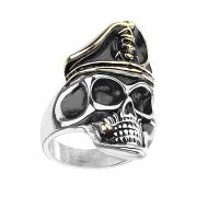 Ring silber Piratenschädel Rauchend