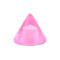 Cone pink transparent