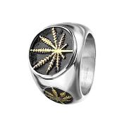 Ring silber Handblatt
