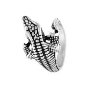 Ring silber Aligator