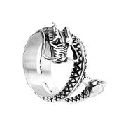 Ring silber Drachen