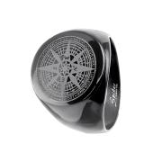 Ring schwarz Kompassrose