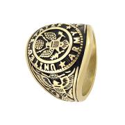 Ring vergoldet US Army Adler mit Flagge