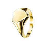 Ring vergoldet Herz flach
