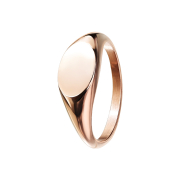 Ring rosegold Oval flach