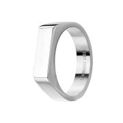 Ring silber Quadrat flach dünn