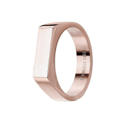 Ring rosegold Quadrat flach dünn