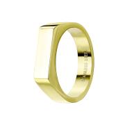 Ring vergoldet Quadrat flach dünn