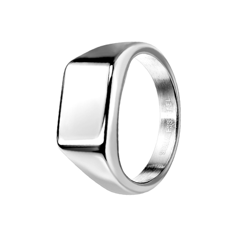 Ring silber Quadrat flach