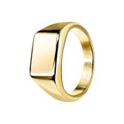 Ring vergoldet Quadrat flach