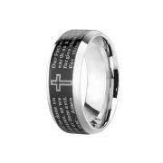 Ring silber Vaterunser schwarz