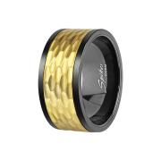 Ring schwarz gehämmert gold