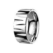 Ring silber Geschnitzt