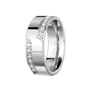 Ring silber zwölf Kristalle