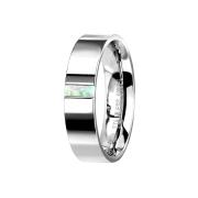 Ring silber mit Opal streifen