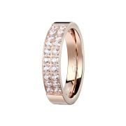 Ring rosegold mit zwanzig Kristallen