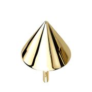 Threadless Cone 14k gold