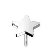 Threadless Stern 14k weissgold