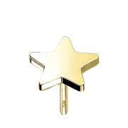 Threadless Stern 14k gold