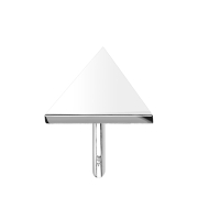 Threadless Dreieck 14k weissgold