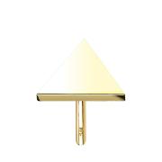 Threadless Dreieck 14k gold