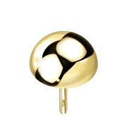 Threadless Kuppel 14k gold