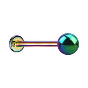 Micro Threadless Labret farbig mit Kugel