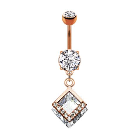 Banane rosegold mit zwei Kugeln Kristall silber Anhänger zwei Diamant und Kristalle