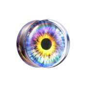 Flared Plug transparent Auge