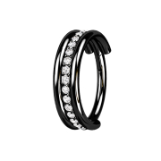 Micro Segmentring klappbar schwarz drei Ringe reihe...