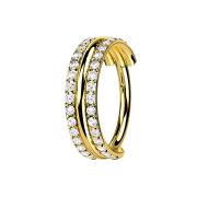 Micro Segmentring klappbar vergoldet drei Ringe...