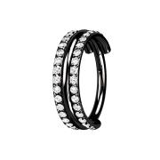Micro Segmentring klappbar schwarz drei Ringe doppelreihe...